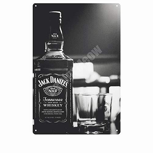BOTLM Placa de Whisky Vino Retro Metal Cartel de Chapa Placa Decorativa Cafe Bar Cartel de Arte de Pared 11,8x7,8 Pulgadas T