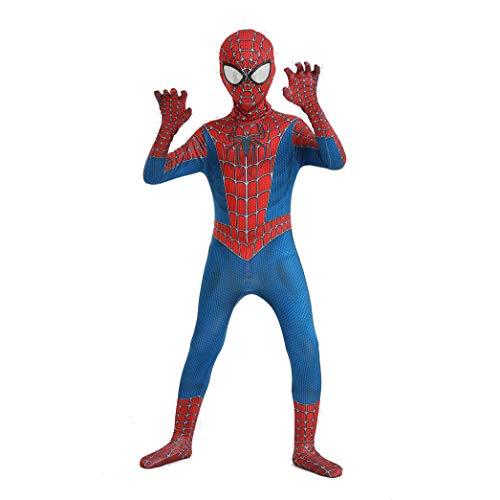 GUOHANG Disfraz De Homecoming Spiderman para Niños Y Adultos Halloween Carnival Cosplay Spiderman Traje Superhéroe Spiderman Cosplay Disfraces Spandex/Lycra Traje,F,110CM~120CM