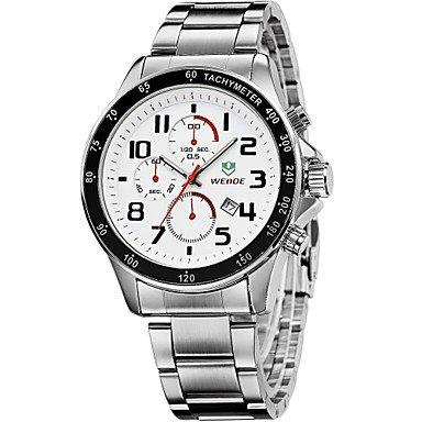 XKC-watches Herrenuhren, Weide Männerrennen Wahlvollstahlband Sport Quarz-Armbanduhr (Farbig Sortiert)