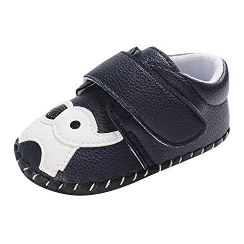 YWLINK Zapatos De Bebé con Fondo Suave Zapatos Casuales con Estampado De Elefante De Dibujos Animados Suela De Goma Zapatillas De Deporte Lindo Zapatos De Primer Paso(Azul,12EU)