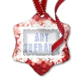 NEONBLOND Christmas Ornament Art Therapy Pen Doodle Art in 3D, red