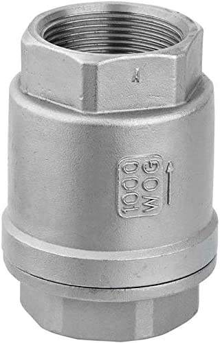Color : Free, Size : 1//2 no-branded SS304 Internal Thread Vertical Check Valve H12W-16P 1//2 3//4 1 1-1//4 1-1//2 Female Spring Type One-Way Check Valve Valve LCMUS