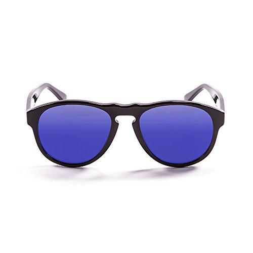 Ocean Sunglasses - Whasington - lunettes de soleil polarisées - Monture : Noir Laqué - Verres : Revo Bleu (5001.1)