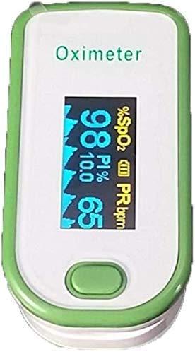 LIIYANN Fingeroximeter Fingerspitzen-Sättigung Fingerspitzen-Sauerstoffmonitor Das Blut-Sauerstoff-Sättigungsdetektor-Clip-On-Pulsoximeter ist für alle Altersgruppen geeignet (Farbe: Grün)