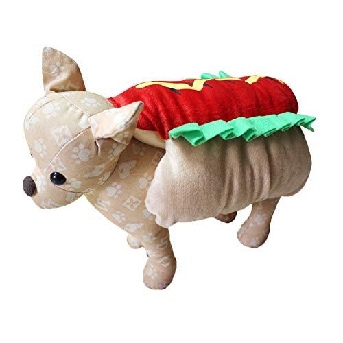 CHIYEEE Weihnachtshaustier Kostüm Hundekatzen Lustiger Mantel Niedlicher Kleidungs Welpen Halloween Sweatshirt Ankleiden M