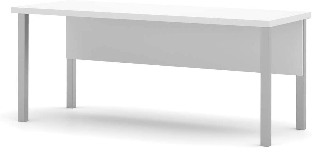 Bestar Miami Mall Table Desk with Square - Metal Legs Now on sale Pro-Linea