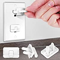 40-Pack Grenfu Baby Proofing Outlet Covers with Hidden Pull Handle