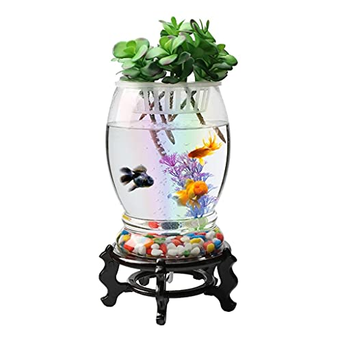 JJWC Glasfischtank Aquarium Aquatic Pet Supplies Pet Products Desktop-Fischtank für Fische (Size : B-Large)