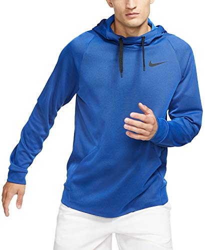 Nike Mens Therma Fleece Pull Over Hoodie Royal Blue/Black BV2710-480-Size X-Large