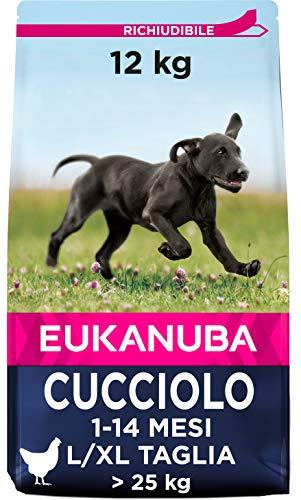Eukanuba Cibo Cecco per Cuccioli in Crescita, per Cani di Taglia Grande, Ricco di Pollo Fresco, 12 kg