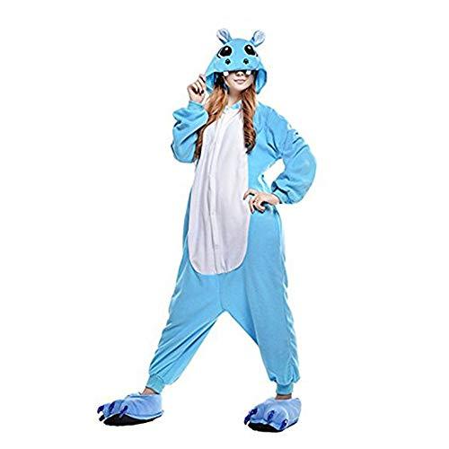 Tickos Animal Onesies Novedad Hipopótamo Mono Pijama Unisexo Adulto Pijama Disfraz de Cosplay de...