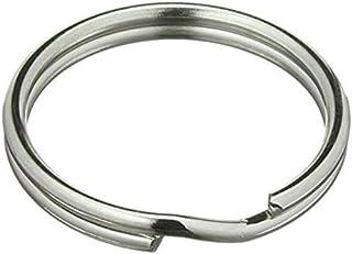100 sleutelringen Ø 35 mm | staal | glanzend | zilver | Sleutelringen sleutelhanger sleutelring | Key Rings