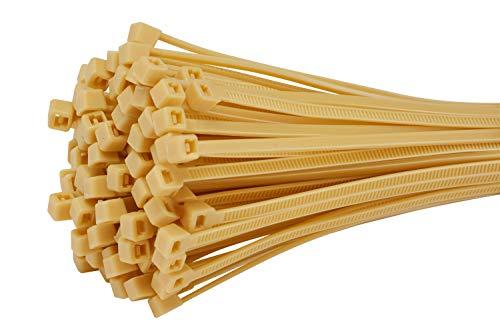 Fix&Easy fascette stringicavo impostato bambù bamboo 2,5 x 100 mm 100 pezzi per canniccio stuoia...