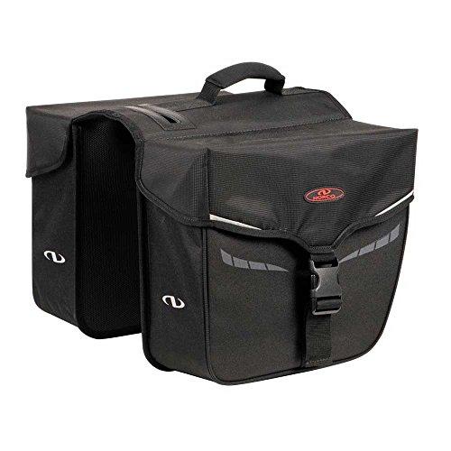 Norco Fahrradtasche Idaho Doppeltasche, Schwarz, 35 x 30 x 13 cm, 10 Liter