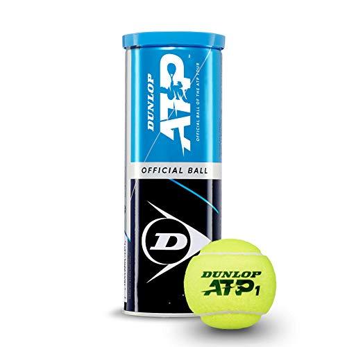 Dunlop Unisex-Adult 601313 Tennisball ATP Official-3 Ball tin, Gelb, One Size