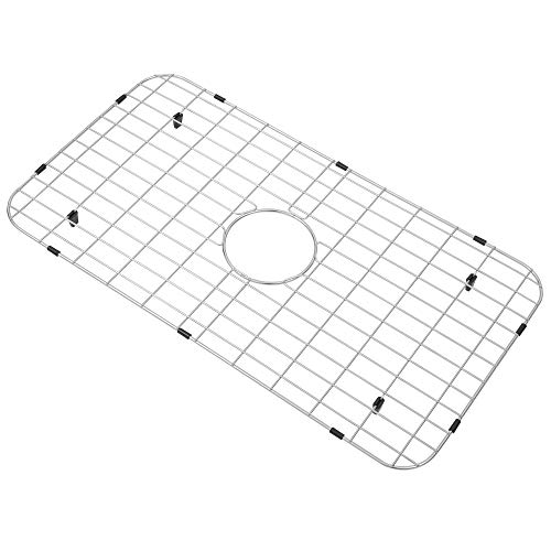 Zeesink Sink Protector,Kitchen Sink Grid Size 28 9/16' X 15 9/16',Sink Protector Grid,Stainless Steel Sink Grid,Sink Bottom Grid with Center Drain for Single Bowl Kitchen Sink