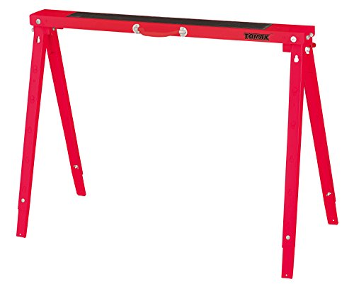TOMAX Folding Sawhorse Height Adjustable 440lb Weight Capacity Single Pack