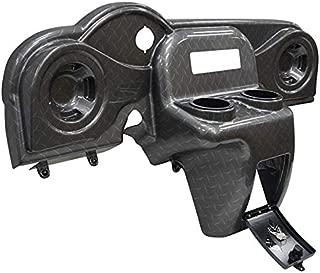 Golf Cart EZGO RXV Deluxe Diamond Plate Dash w/Radio and Speaker Cutouts