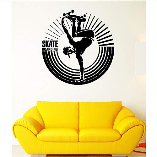 Makeyong Hot Koop Wanddecoratie Skateboard Extreme Sports Street Stunt Man Vinyl Stickers voor Jongens Kinderen Slaapkamer 42X45Cm