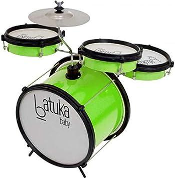 "Bateria Baby Verde Citrico - Bumbo 10"", Tom E Caixa 06"" Corpo De Abs"