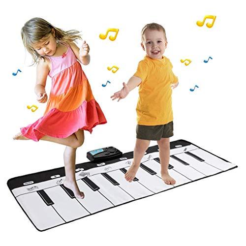 LALAWO Kinder-Tanz-Matten, Musik Mat Parent-Child Interactive Krabbeln Mat Klavier-Schlüssel Mat