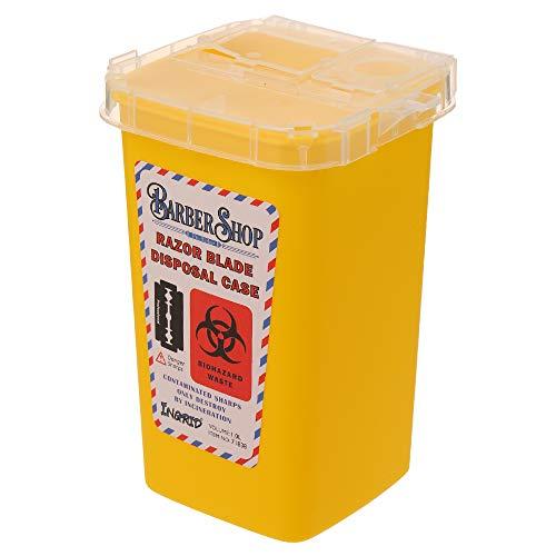 Fesjoy Tragbare 1L Sharps Container Medizinische Nadeln Bin Biohazard Tattoo Piercing Nadeln Barber Rasierklinge Entsorgung Sammeln Box tragbar