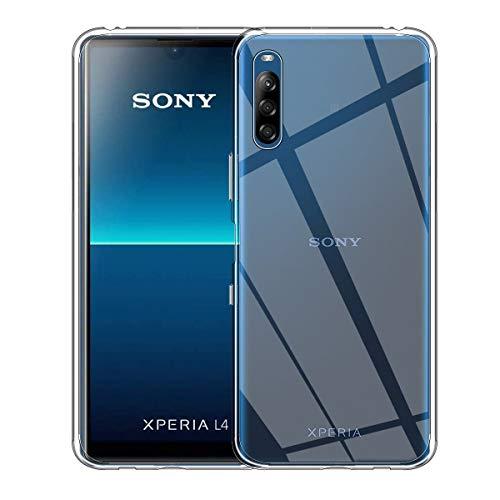 ELYCO für Sony Xperia L4 Liquid Crystal Hülle, Superdünnes Softschale R&umschutz Anti-Fall Anti-Fingerabdruck TPU Handyhülle Durchsichtige Schutzhülle Hülle für Sony Xperia L4 [Transparent]