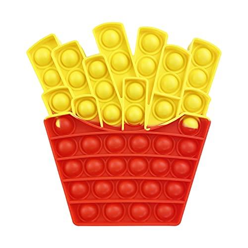 AURSTORE Giocattoli antistress - Fidget Toy - Pop Bubble - giocattoli sensoriali a pressione, in silicone, ideali per la concentrazione e la calma (patatine fritte)