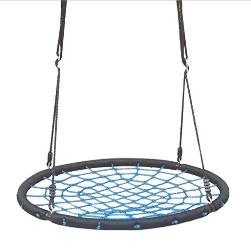 Wtbew-u Lifte im Freien Unisex Adult Nest Swing Spinnennetz Schaukel, Abnehmbare Kinder Outdoor Indoor Swing-100CM-Schwarz Zum Spielen schütteln