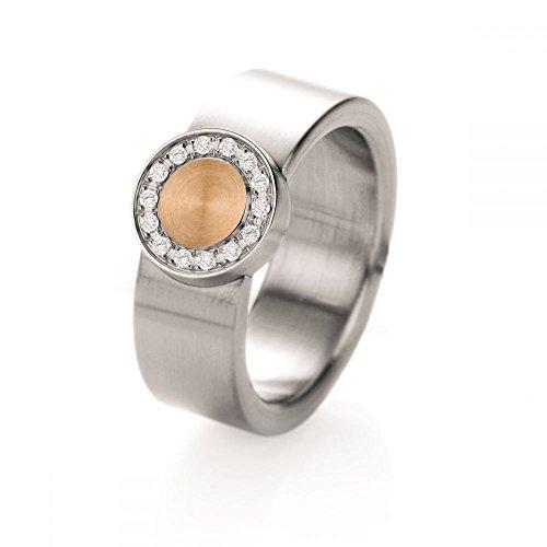 Teno Ring mit 18kt Rosègold und Brillanten YuNis de luxx 068.03P08D15RG.54
