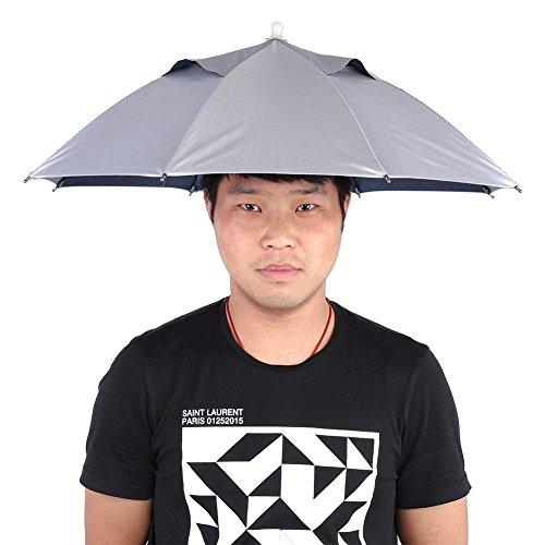 Delaman Sombrero de Paraguas Fishing Cap Outdoor Handfree Protección UV a Prueba De Agua Ligero para Jardinería, Fotografía, Caminar
