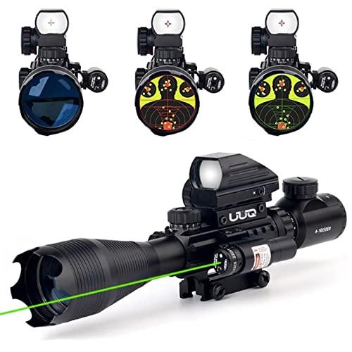 UUQ 4-16x50EG Tactical Rifle Scope Red/Green Illuminated...
