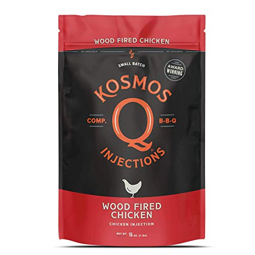 Kosmos Q Wood Fired Barbecue Chicken Injection   Seasoning & Marinade   Smoky & Sweet   Just Add Water or Broth