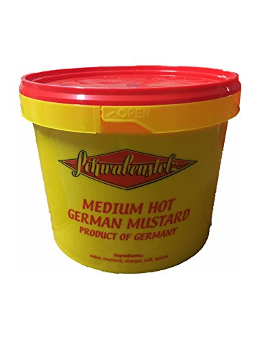 Senf mittelscharf Medium Hot German Mustard 5 kg Eimer
