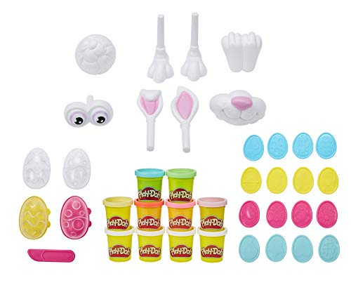 Play-Doh Easter Basket Toy 25-Piece Bundle, Make Your Own Easter Bunny Kit with Eggs, Stampers, and 10 Cans of Non-Toxic Modeling Compound, Easter Crafts for Kids 3 Years and Up, 2-Ounce Cans