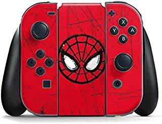 Skinit Decal Gaming Skin for Nintendo Switch Joy Con Controller - Officially Licensed Marvel/Disney Spider-Man Face Design