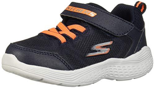 Skechers Kids' Lightweight Gore & Strap Snea Sneaker