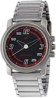 Fastrack Upgrades Men's Black Dial Metal Band Watch - T3039SM08