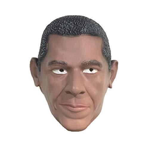 CZLWZZD Prominente Maske Obama Latex Kopfbedeckung Lustiger Maskerade Kopfschmuck Halloween Maske