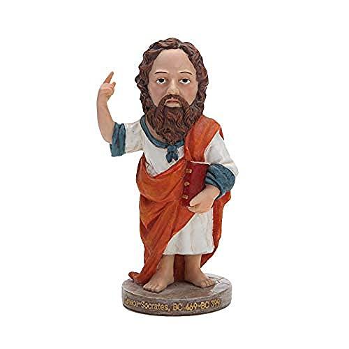 Happy Home Products Estatua de Sócrates Figurilla Juguetes educativos para decoración de Escritorio para niños Colección de Manualidades de Regalo de cumpleaños de Navidad