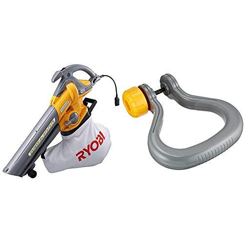 リョービ(RYOBI) ブロワバキューム RESV-1000 697200A & 補助ハンドル ブロワバキューム RESV用 6076057【セット買い】