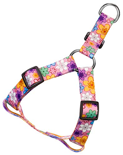 Country Brook Petz - May Flowers Step-in Dog Harness - Floral Collection with 5 Charming Designs (5/8 Inch, Small)
