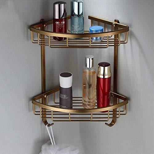 2 Badregale, antike Duschnische aus Metall, Shampoo-Wandregal, Badekorb