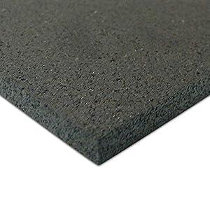 Rubber-Cal Elliptical Heavy Duty Floor Mat, Black, 3/16-Inch x 4 x 7-Feet