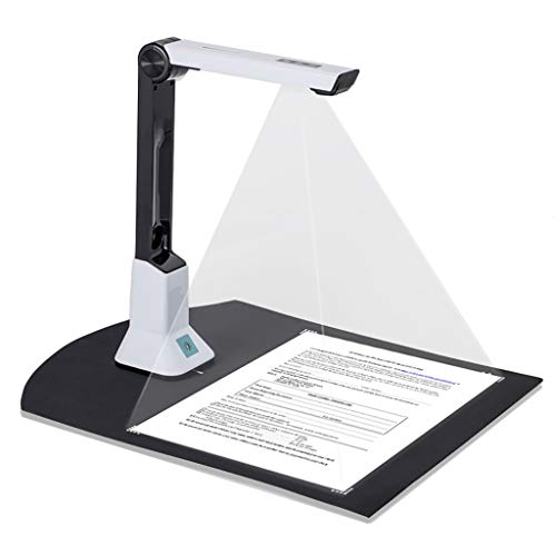 Arrison Document Camera Scanner Portable Scanner Max Scan Size A4 HD for Teacher Online Class Meeting with SDK & Twain, Multiple Language OCR, 6 LED, 5Mega-Pixel(Only Work with Windows