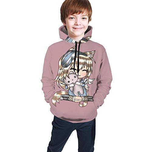 Lässige Hoody Tops Gacha Life Games Unisex Hoodie 3D-gedrucktes Kapuzenpullover-Sweatshirt für Männer Frauen Jungen Jungen Mädchen 6-16 Jahre alt
