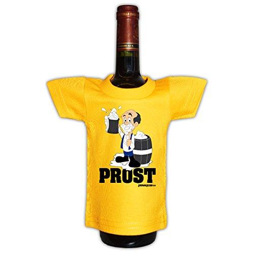 Goodman Design Originelle Flaschenverpackung - Prost Mini T-Shirt - EIN lustiges Geschenk auf Partys! Flaschenüberzug