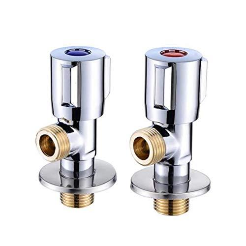 Das elektromagnetische Ventil Kupfer Eckventil heißes und kaltes Wasser Absperrventil Schnell Öffnen-Hahn-Ventil for Badezimmer Küche Toilette Sink G1 / 2 Industriebedarf ( Specification : Blue )