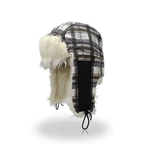 DSDSASDDA Sombrero De Invierno,Invierno Gris paraviento Calidez Bombardero Sombreros de Pieles de...