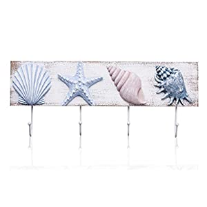 TideAndTales Beach Decor 3D Seashell Wall Hooks To...